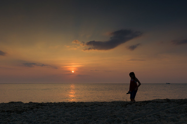 Girl at Sunset - Cape May Point, NJ