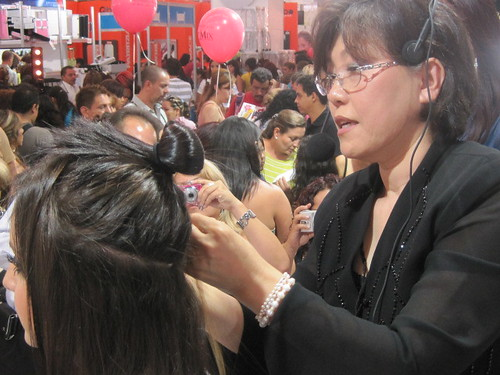 Helen of NHA at Beauty Expo   by newhairinc