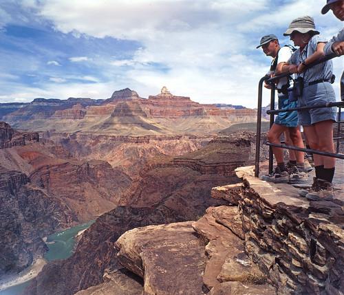 Visitors at Plateau Point, Grand Canyon National Park, Arizona
