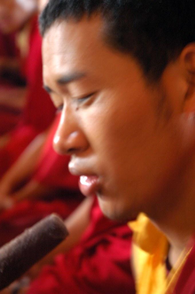 Chant leader, Tibetan Buddhist monk, deep voiced, Lamdre