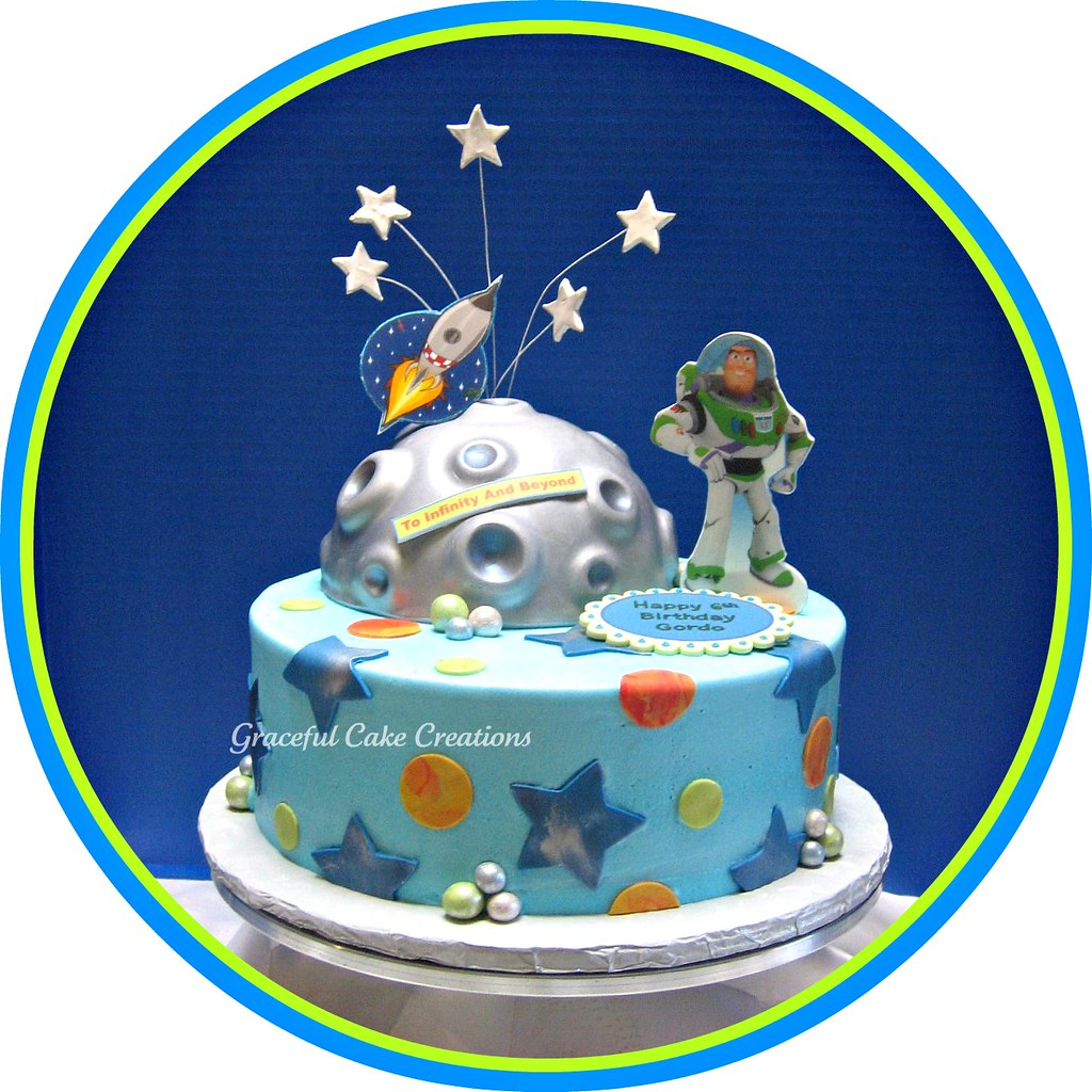 Tremendous Buzz Lightyear Birthday Cake Grace Tari Flickr Funny Birthday Cards Online Inifodamsfinfo