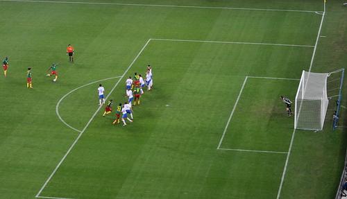 Cameroon free-kick