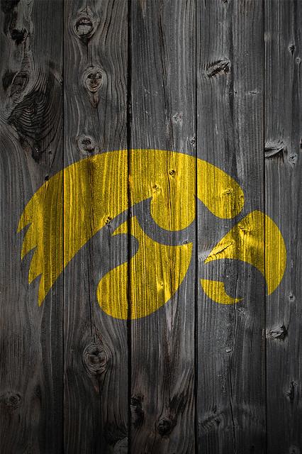 Iowa Hawkeyes Wood iPhone 4 Background