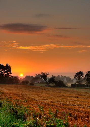 mist rural sunrise farms hdr