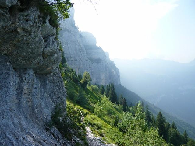 Rochers de Fouda Blanc, montée par le pas de Fouda Blanc - descente par le pas de l'Echelle
