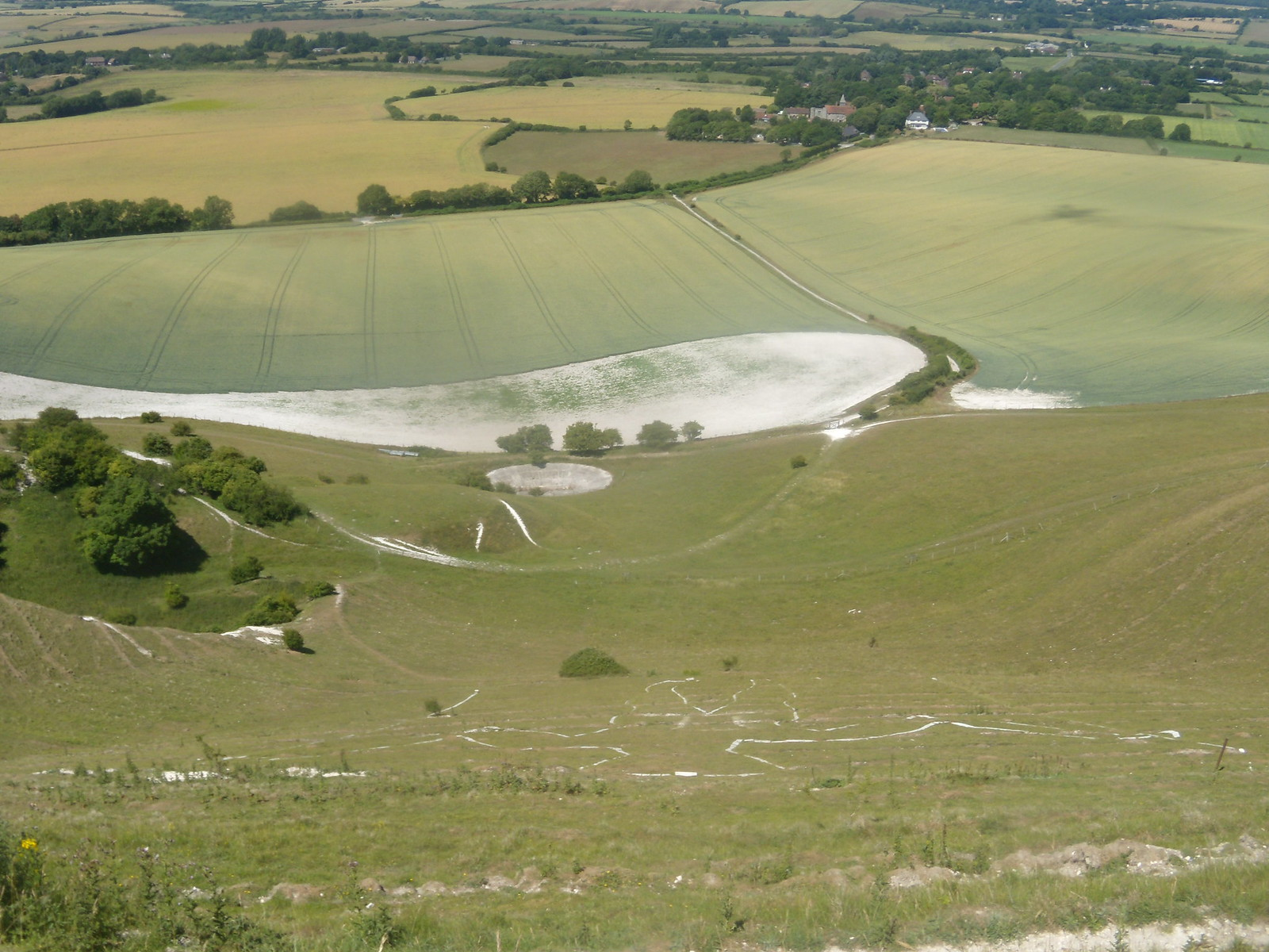 Looking down on Long Man Berwick to Birling Gap