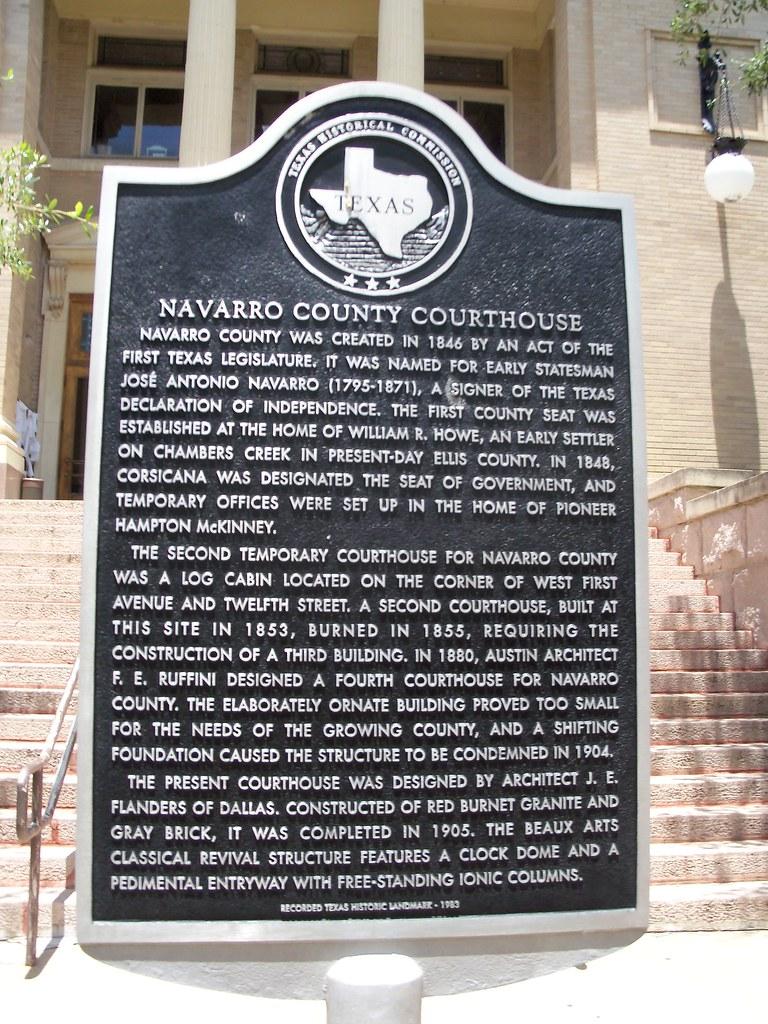 Navarro County Courthouse, Corsicana, Texas Historical Mar ...