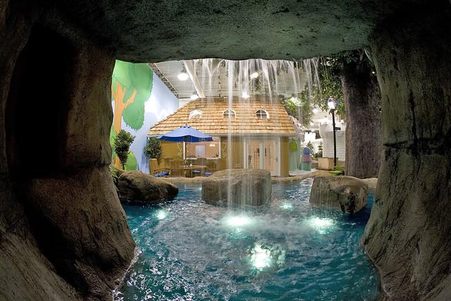 Waterfall Outside Creative Cavern