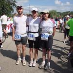 Tomáš, Martina a Pavlína před startem Ultrabalatonu, foto: archiv Martiny Němečkové