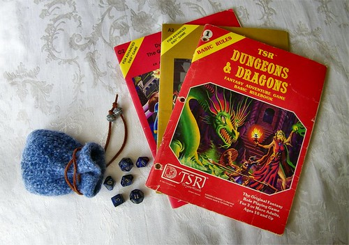 Original Dungeons and Dragons Basic Rule Book - 1981 - Plus 2 Dugeon Modules | by Jennie Ivins