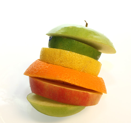 stack of fruit | by Lori Greig