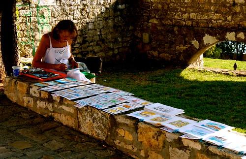 Donna che dipinge a Rovigno | by Giorgio Badaini