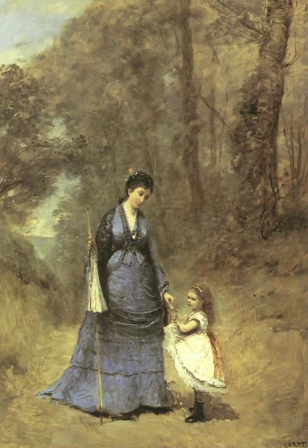 Camille Corot: Mme Stumpf et sa fille (1872)
