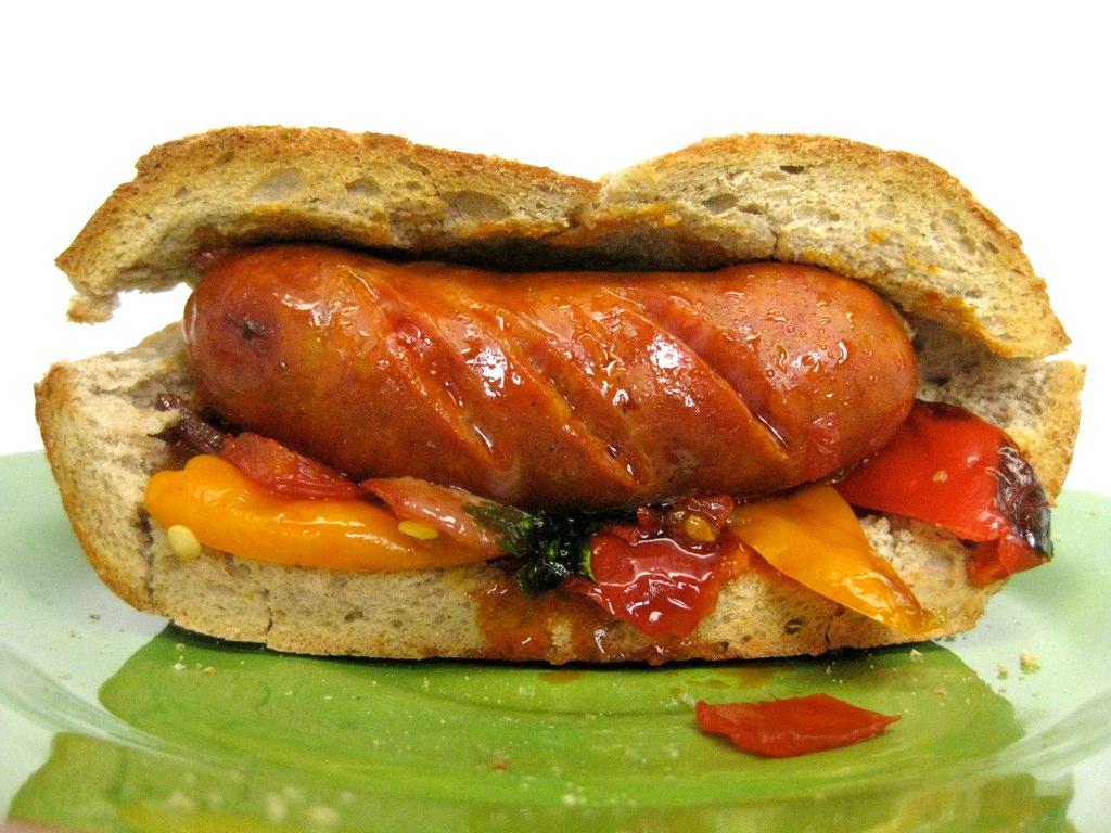 Choripan   Chorizo sandwich (chori...pan) with sweet peppers…   Flickr