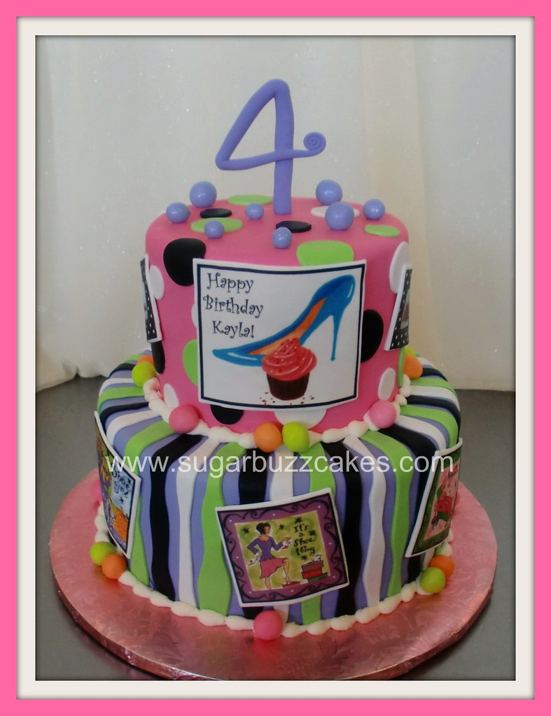 Astonishing Funky Girly Girl Birthday Cake Carol Flickr Personalised Birthday Cards Xaembasilily Jamesorg