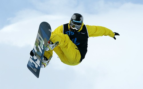 Sky high in the Halfpipe Final : The Brits 2010 at Laax, Switzerland | by bobaliciouslondon