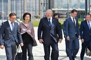 Roberto Montella, Christine Muttonen, Alexander Lukashenko and Sebastian Kurz at the OSCE PA Annual Session, Minsk, 5 July 2017 | by oscepa