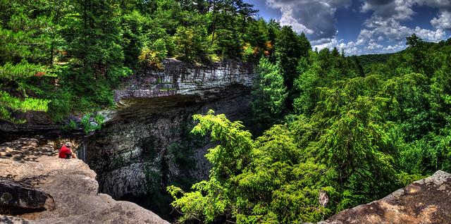 Ozone Falls amphitheater, Mike Sawatzki, Ozone State Natural Area, Cumberland Co, TN