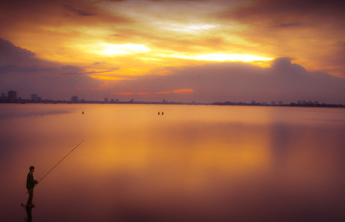 sunset art fishing nikon vietnam westlake hanoi