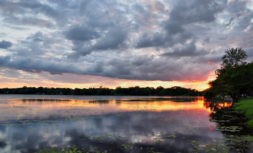 sunset clouds reflections landscapes illinois nikon midwest day sundown cloudy dusk lakes sunsets beautifulclouds pinoy silhouttes naturescapes beautifulsceneries lilylake d90 mchenrycounty wetreflections colorboost northernsuburbs almostsooc beautifullakes lakemoor setholiver1 18105mmnikkorlens circularpolarizers