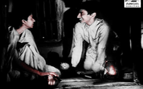 apu and karuna banerjee in aparajito(the unvanquished) a,a film by satyajit ray