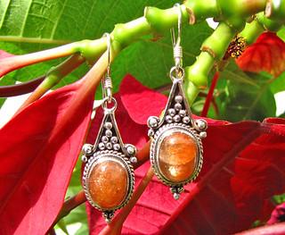 Indische Sonnenstein Ohrringe