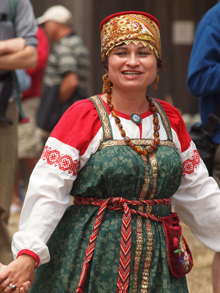 Fort Ross Woman Wearing Traditional Russian Costume Flickr