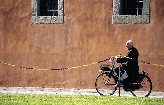 A priest in Pisa