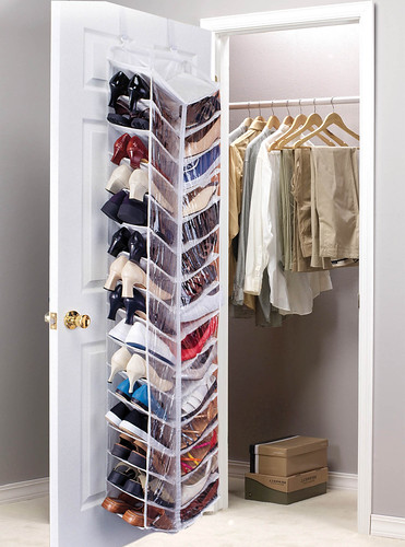 30 Pocket Over Door Shoe Organizer