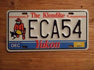 YUKON 1996 ---PASSENGER PLATE ECA54
