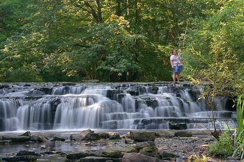 waterfall corbettsglen motherwithchild allenscreek postcardfalls