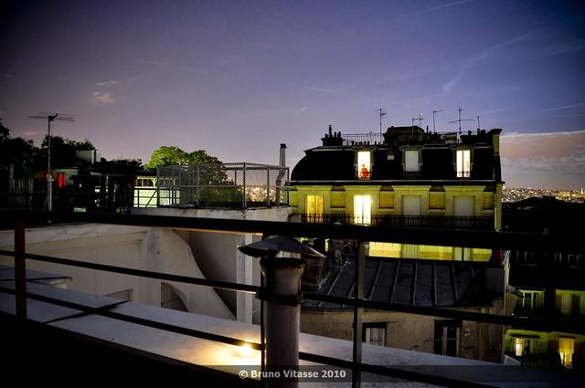 Montmartre connexion night #02 (vue de la butte)