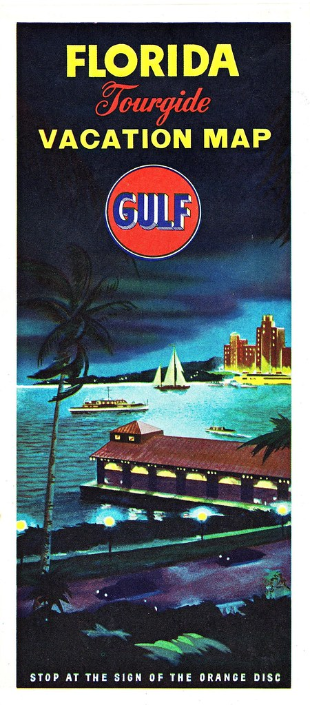 RETRO FLORIDA: 1955 Gulf Oil Road Map (Front) | The beautifu ...