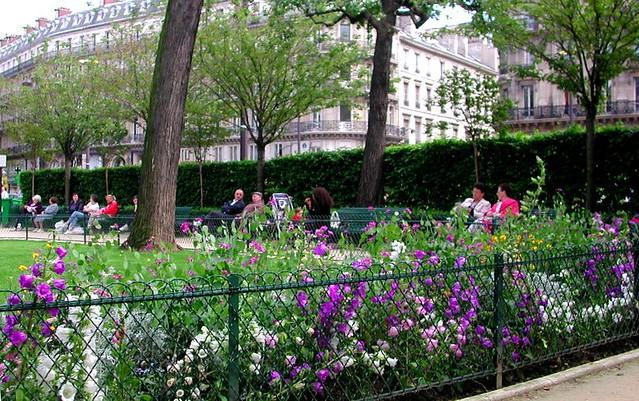 park at St. Trinite, Paris