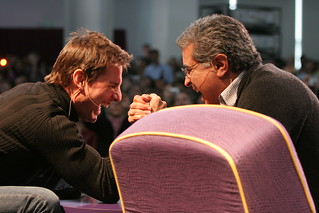 Tom Cruise arm wrestling with Terry Semel | by Mitch Aidelbaum Photography