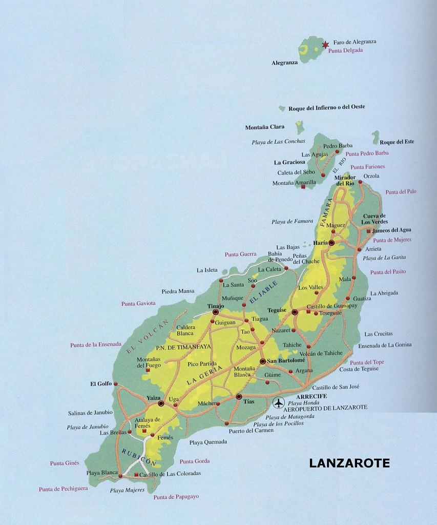 Lanzarote Mapa 2 L Aparador Virtual De La Nuria Flickr