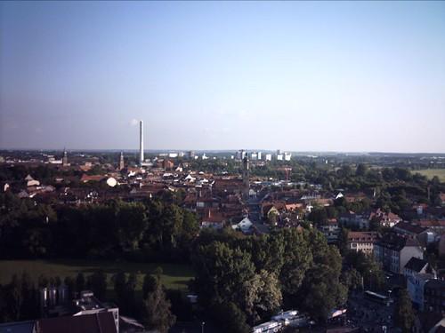 Erlangen-Photos..view from the big wheel over Erlangen1