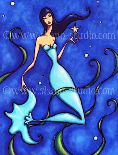 Mermaid & Starfish | by Art by Shano