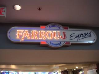 Mall Food Sign