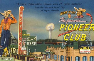 Atomic Las Vegas 1950/'s Vintage Postcard Poster