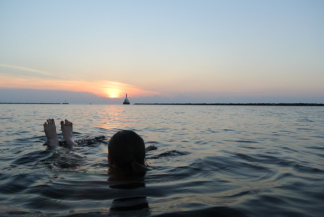 Enjoying the sunset in Superior