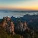 Monkey Rock at sunrise, Huangshan, China by derwiki