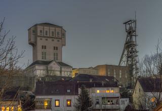 Grube Camphausen, Schacht IV und Schacht II