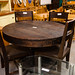 Solid wood circular table centre based comes with 4 chairs E360 the set