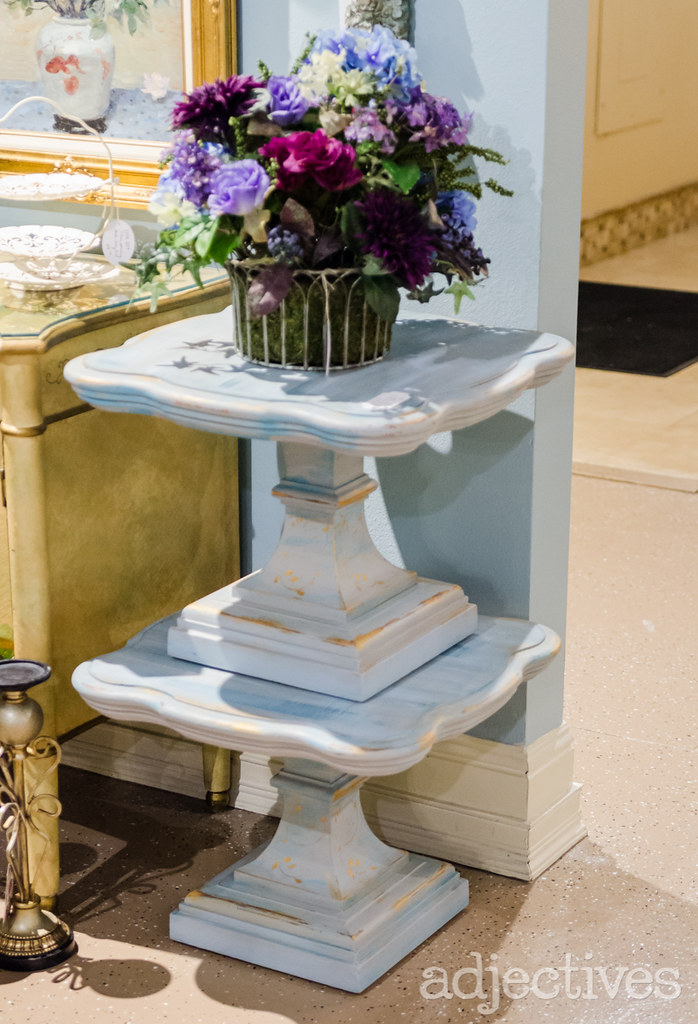 Painted end tables by Deco Posh in Adjectives Winter Park