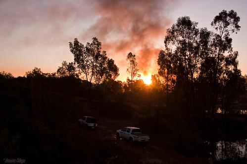 africa trees sunset red sky sun nature silhouette canon southafrica scenery dusk smoke pretoria gauteng mahem 450d canon450d hannessteyn eosdigitalrebelxsi canonefs18200mmf3556is