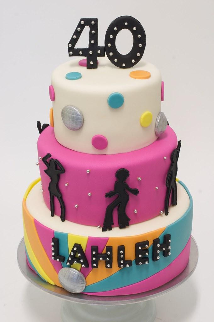 Prime Disco Birthday Cake Studiocake Com Bethann Goldberg Flickr Funny Birthday Cards Online Hendilapandamsfinfo