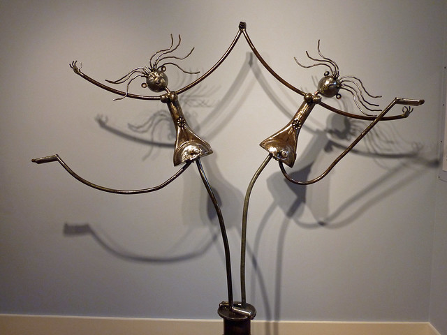 Metal sculptures by Phillip Glashoff exhibted at the Mumms Winery near Calistoga, CA