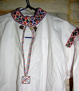 Yoke & Shoulder, Woman's Embroidered Blouse, Guri i Zi, Albania