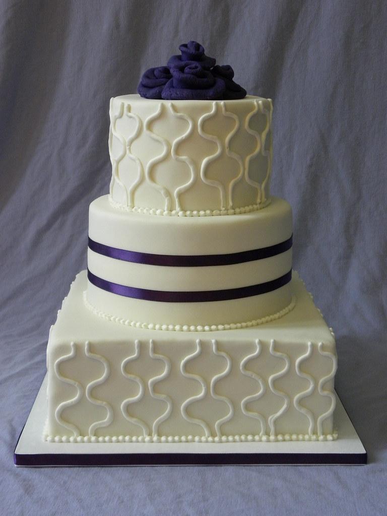 Simple \u0026 Elegant 3,tier Wedding Cake